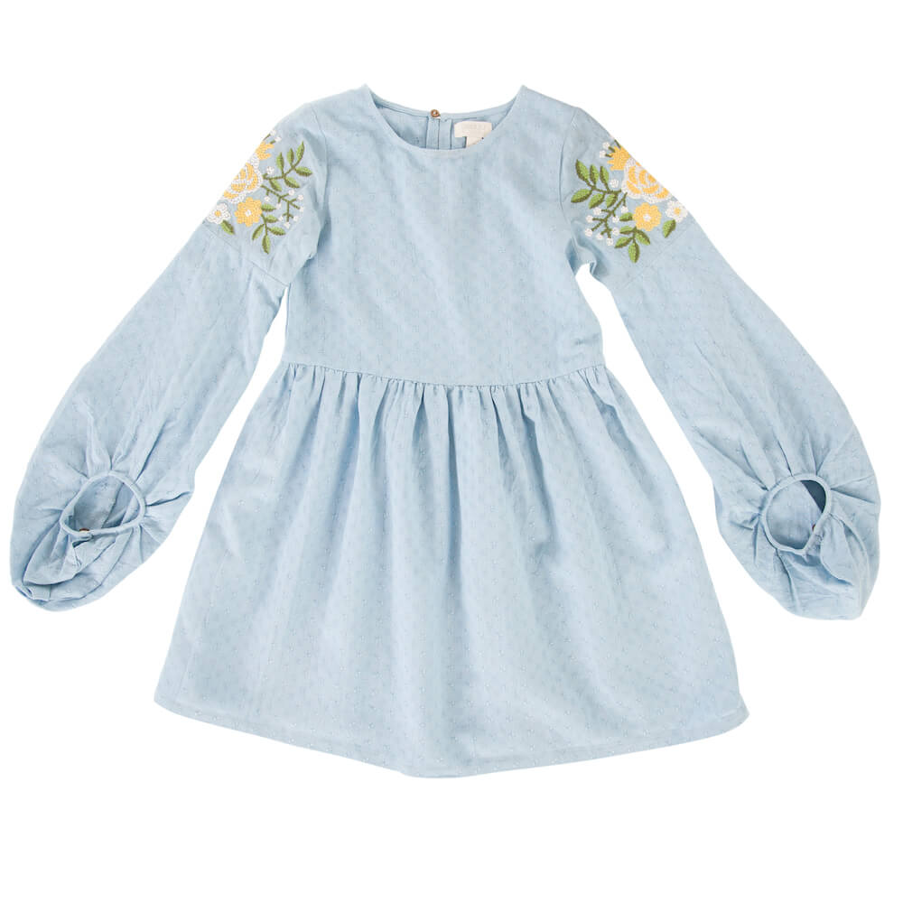 Peggy Adhira Dress Dream Blue | Tiny People