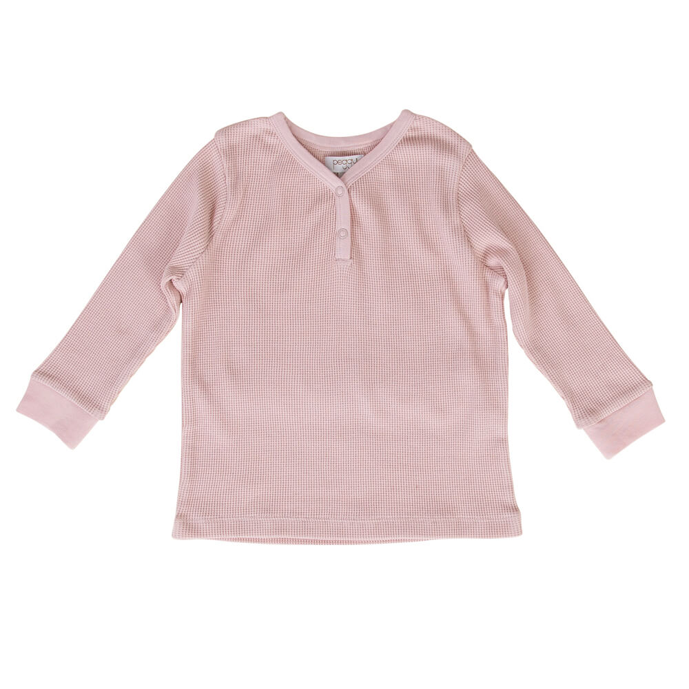 Peggy Halo Henley Crew Dusty Pink | Tiny People Online Australia