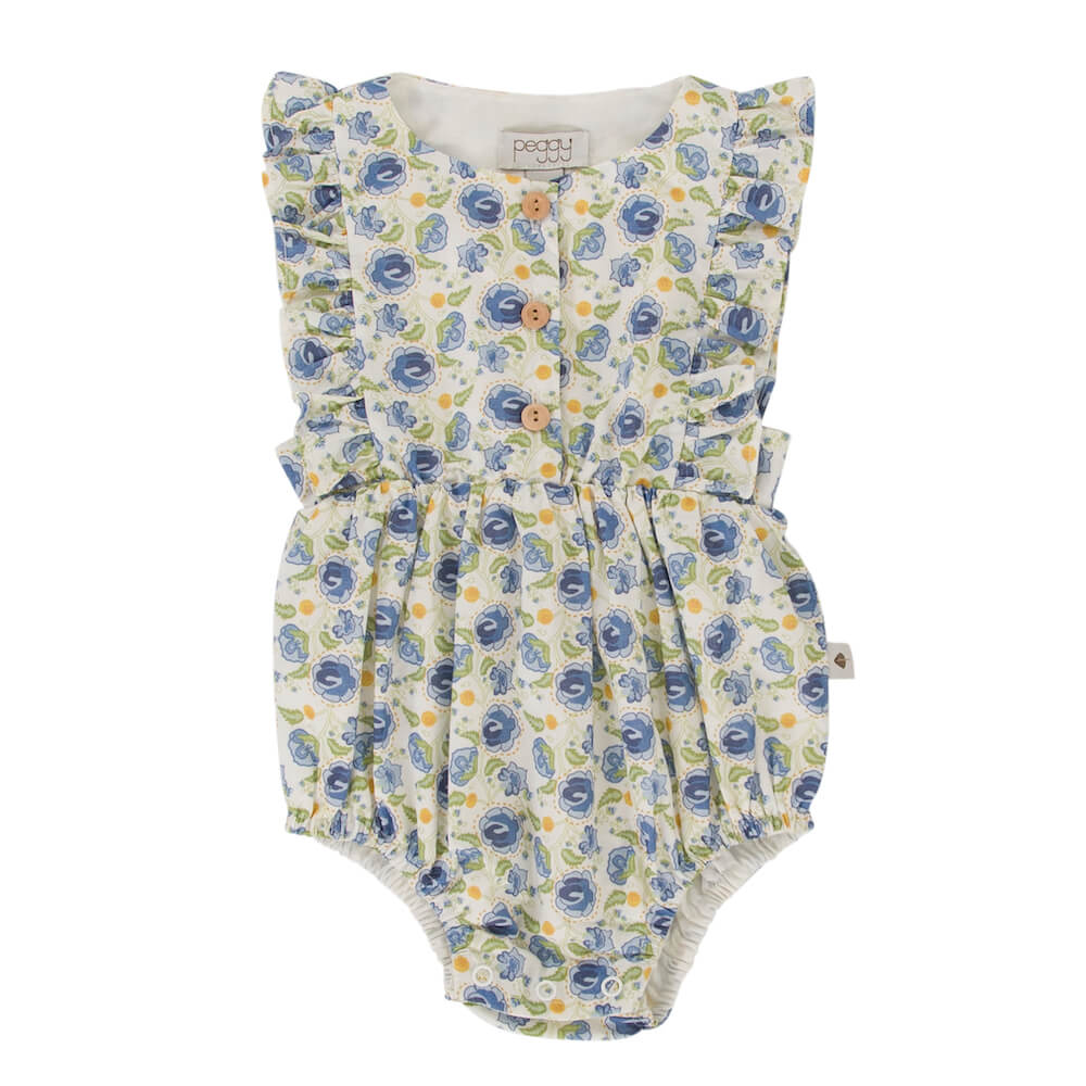 Peggy August Playsuit Blue Floral | Tiny People Australia