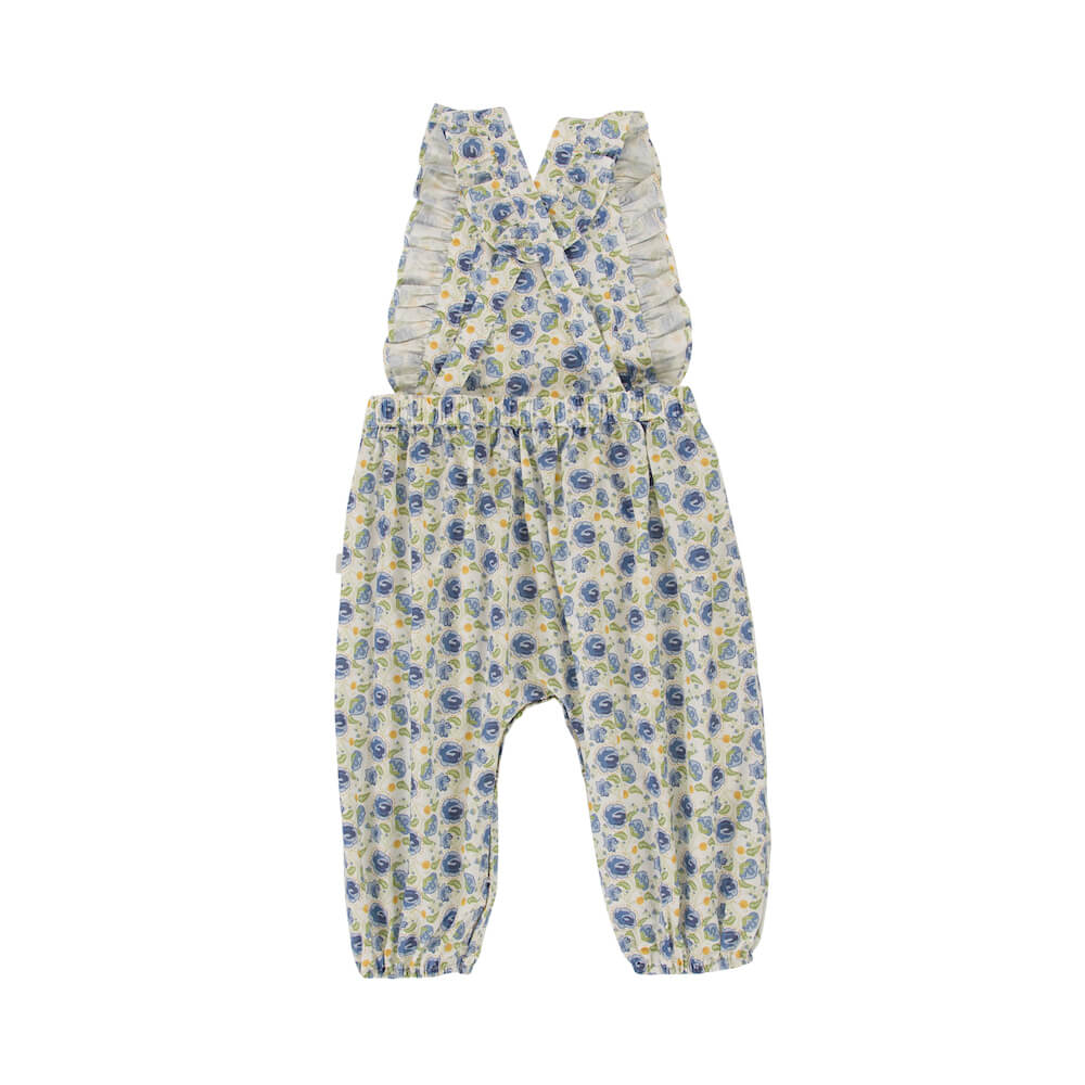 Peggy Sidney Playsuit Blue Floral | Tiny People Australia