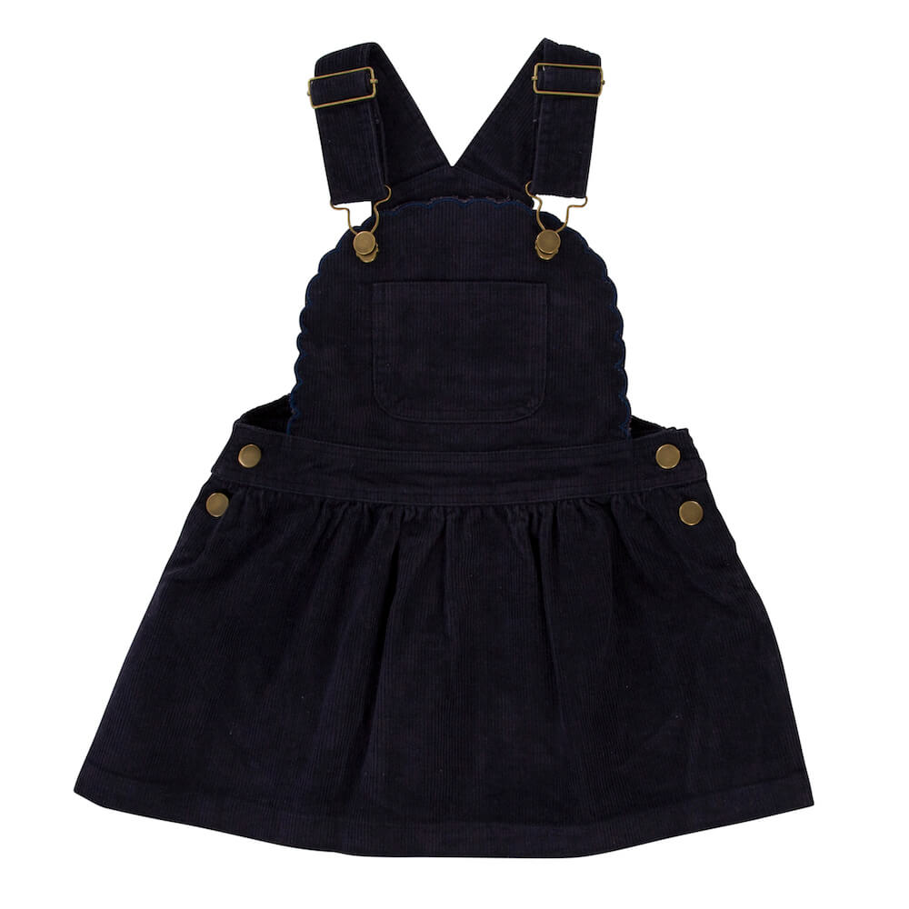 Peggy Chloe Pinafore Navy | Tiny People Online Australia