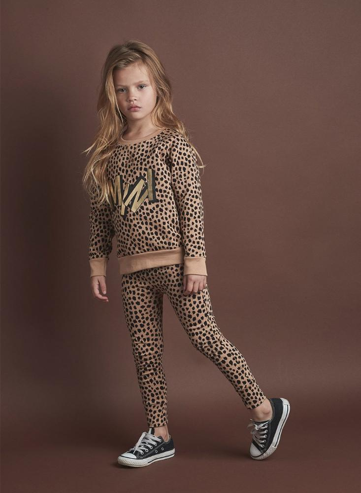 Huxbaby Mini Leopard Sweatshirt Caramel Crews & Hoodies - Tiny People Cool Kids Clothes
