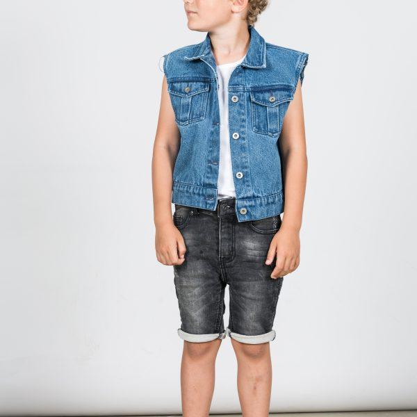 I Dig Denim Bill Denim Jacket Blue boys tops - Tiny People Cool Kids Clothes