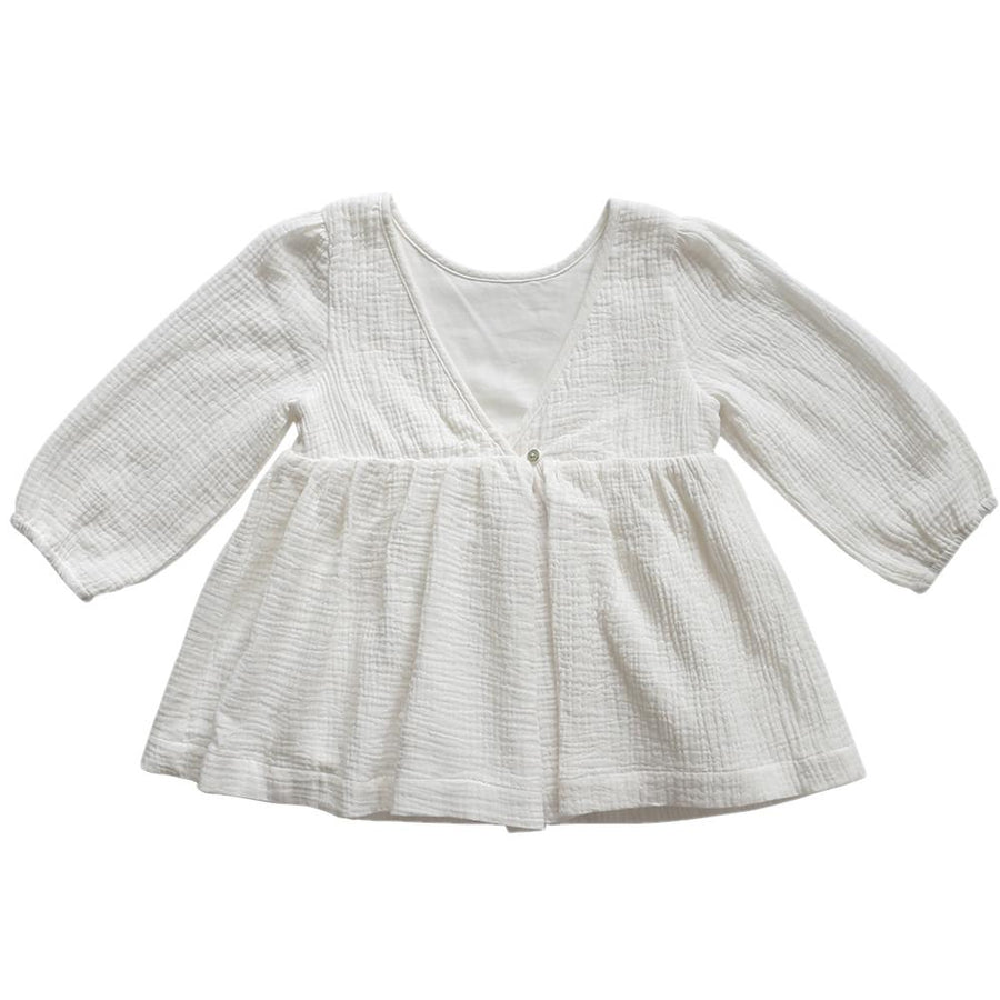 Aubrie Clementine Babydoll Top - Vanilla - Tiny People Cool Kids Clothes Byron Bay