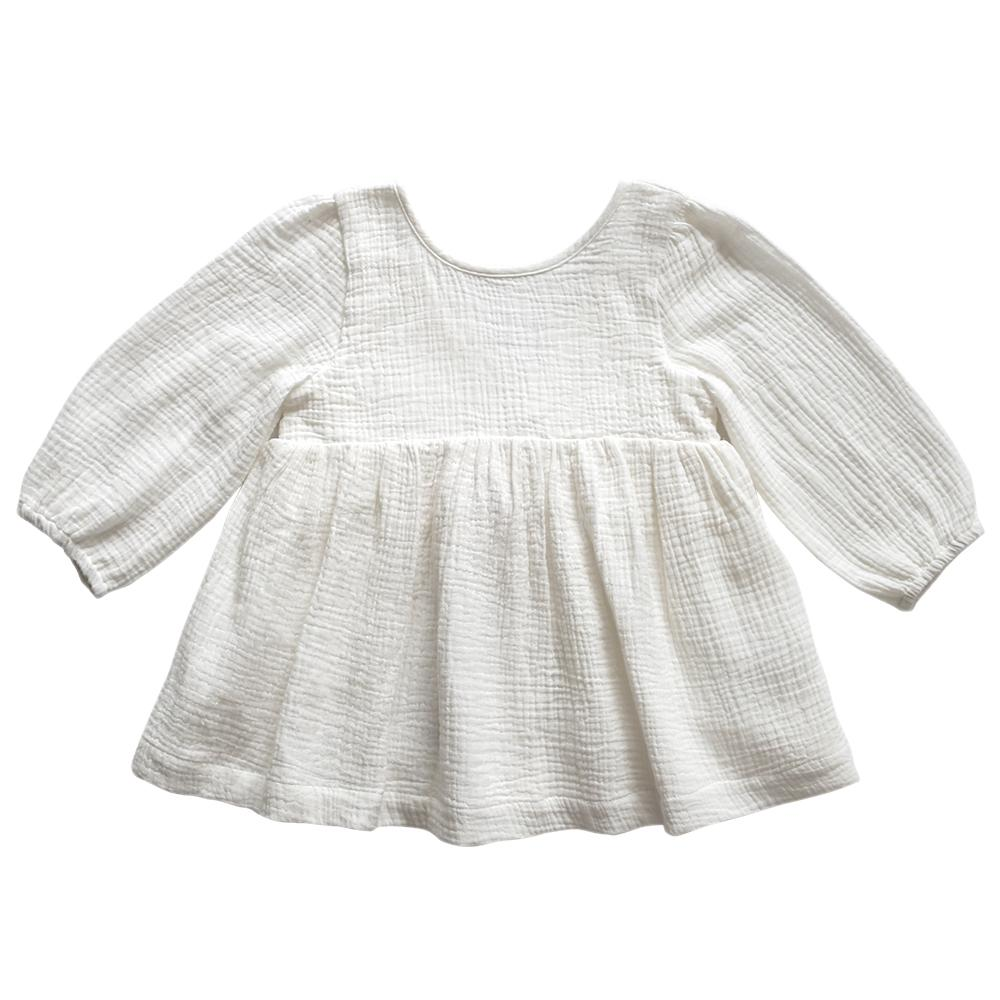 Aubrie Clementine Babydoll Top - Vanilla Tops - Tiny People Cool Kids Clothes