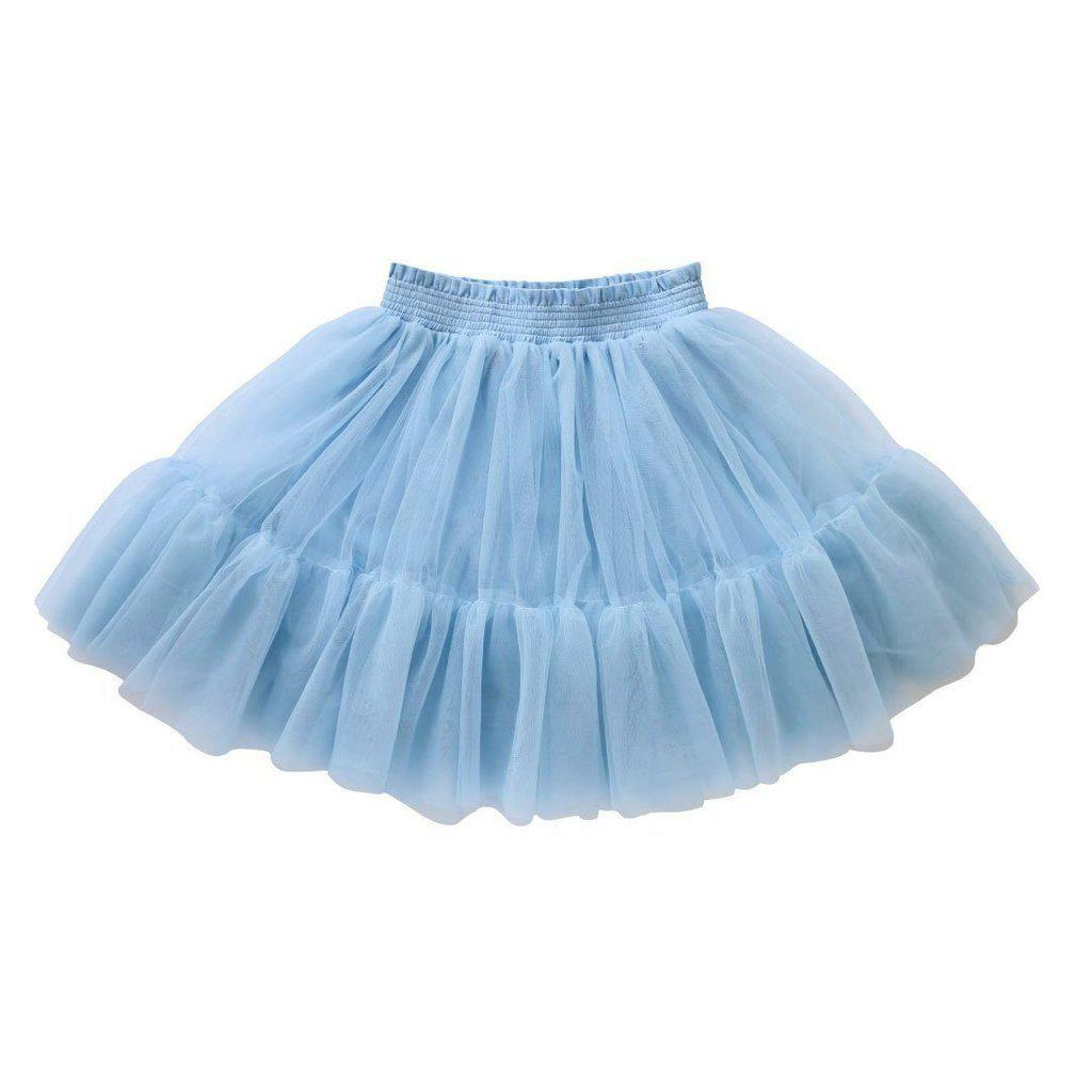 Little girls Aubrie Duck Egg Blue tutu at Tiny People Shop Australia.