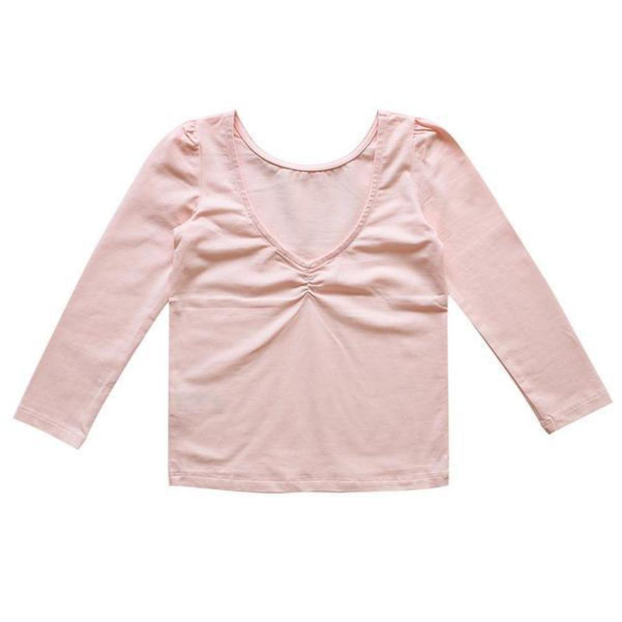 Aubrie Rehearsal Tee - Ballet Pink Pima Knit - Tiny People Cool Kids Clothes Byron Bay