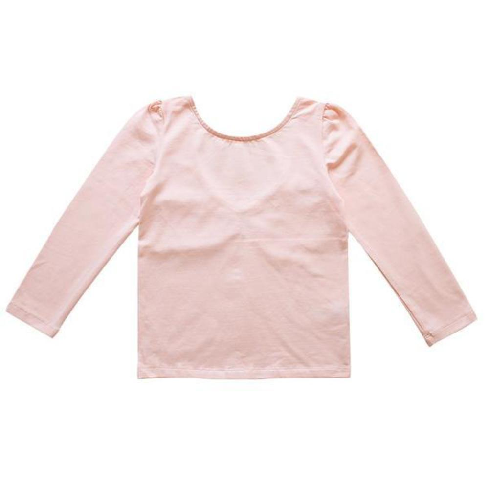 Aubrie Rehearsal Tee - Ballet Pink Pima Knit Tops - Tiny People Cool Kids Clothes