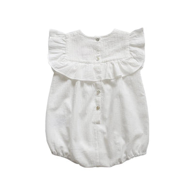 Aubrie Romance Romper - Vanilla - Tiny People Cool Kids Clothes Byron Bay
