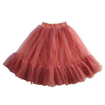 Aubrie Romantic Ruffle Tutu Burnt Fig Dresses | Skirts - Tiny People Cool Kids Clothes