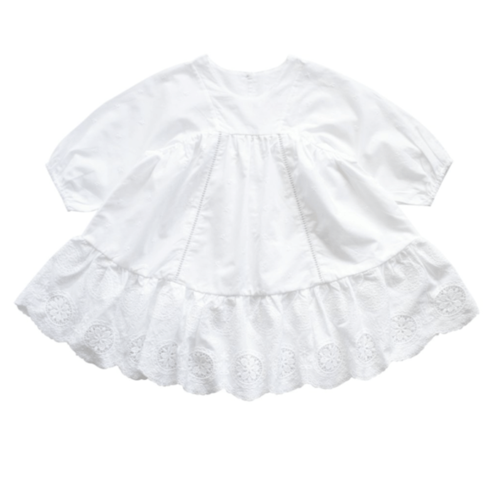 Aubrie Anne of Avonlea Dress - Trellis Broderie Anglaise Dresses | Skirts - Tiny People Cool Kids Clothes