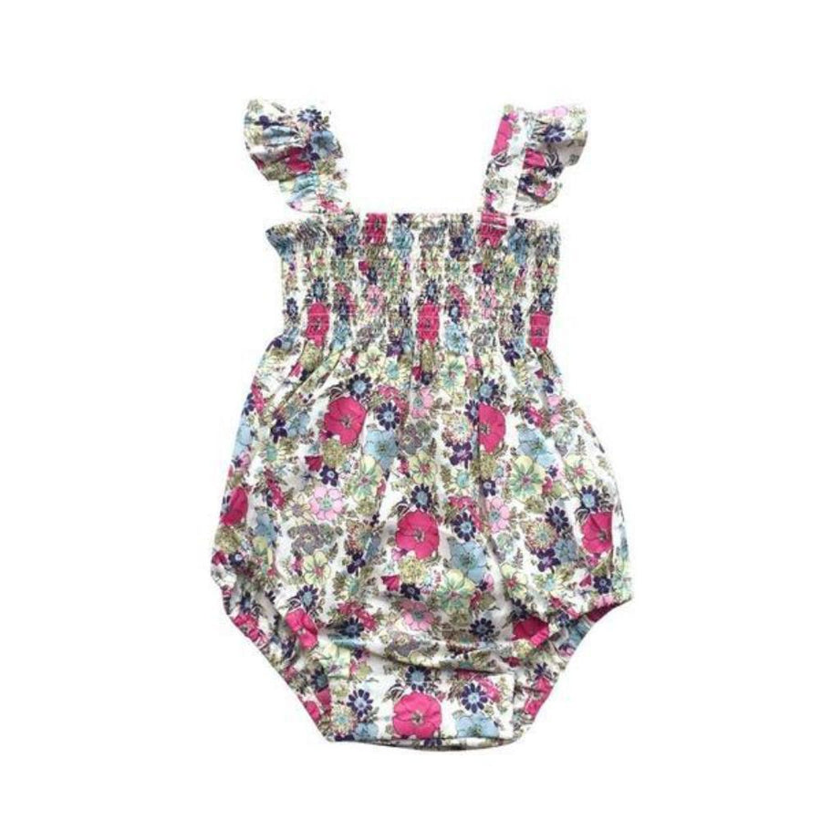 Aubrie Polly Playsuit - Guadalupe Floral - Tiny People Cool Kids Clothes Byron Bay