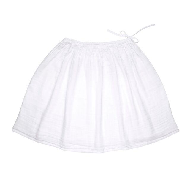 Ava Women's Midi Skirt White