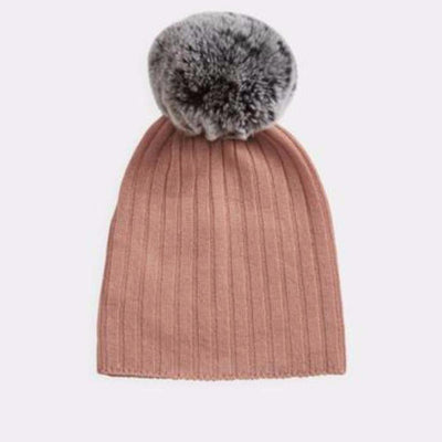 Belle Enfant Pompom Hat - Peach - Tiny People Cool Kids Clothes Byron Bay