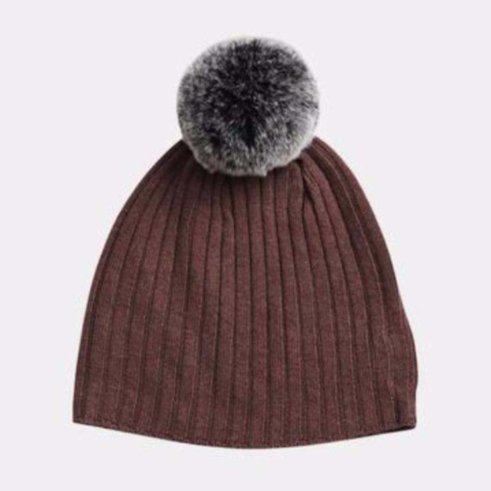 Belle Enfant Pompom Hat - Berry Beanie - Tiny People Cool Kids Clothes