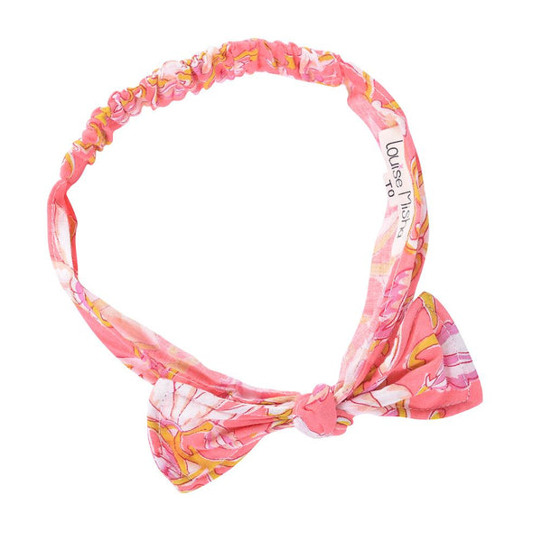 Louise Misha Boyka Headband Coral Flowers - Tiny People Cool Kids Clothes Byron Bay