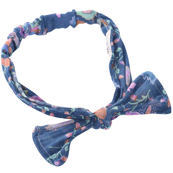 Boyka Headband in Blue Pine Cone Print at Tiny People Shop