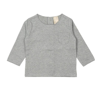 Gray Label Baby Tee Grey Melange - Tiny People Cool Kids Clothes Byron Bay