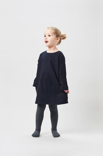 Belle Enfant Bell Sleeve Dress - Navy - Tiny People Cool Kids Clothes Byron Bay