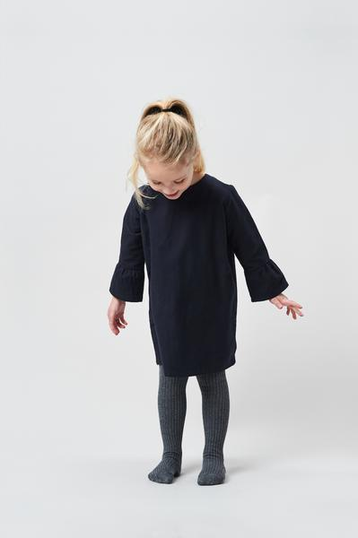 Bell Sleeve Dress - Navy