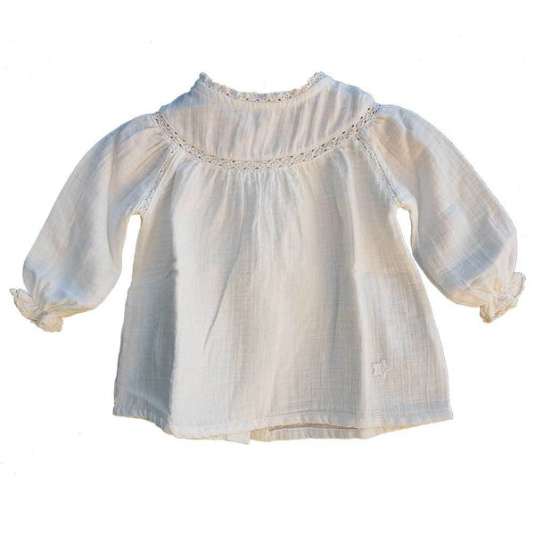 Tocoto Vintage Lace Baby Blouse Ecru - Tiny People Cool Kids Clothes Byron Bay