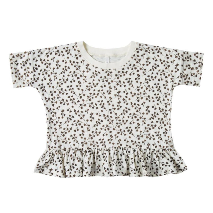 Boxy Peplum Dried Flowers Tee