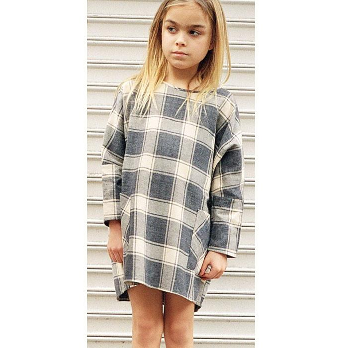 boy+girl Charlotte Dress Cream - Tiny People Cool Kids Clothes Byron Bay