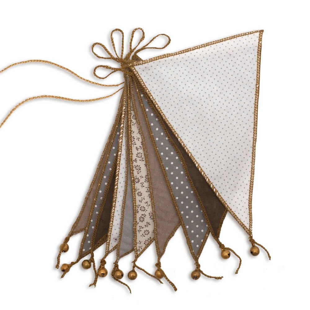 Numero 74 Garland Bunting Flags - Mixed Beige | Tiny People