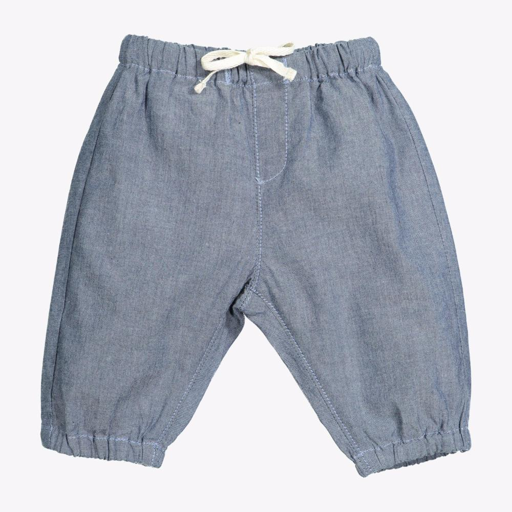 Knot Chambray Trousers Mid Denim Boys Pants - Tiny People Cool Kids Clothes