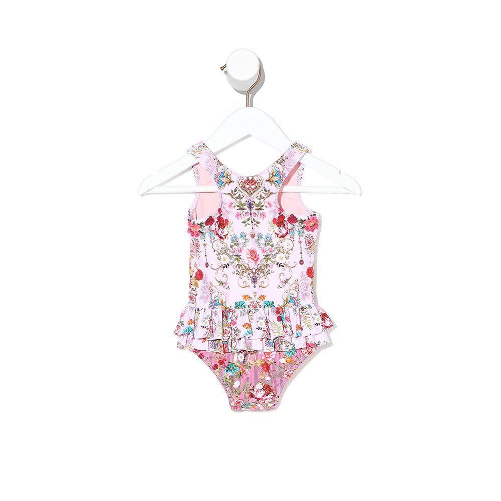 Believe in Love Baby Ruffle Back One Piece