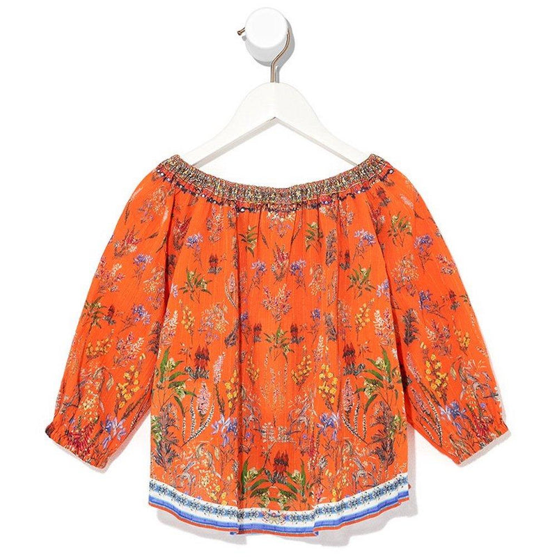 Camilla Gone Coast Elasticated Neck Blouse Tops - Tiny People Cool Kids Clothes