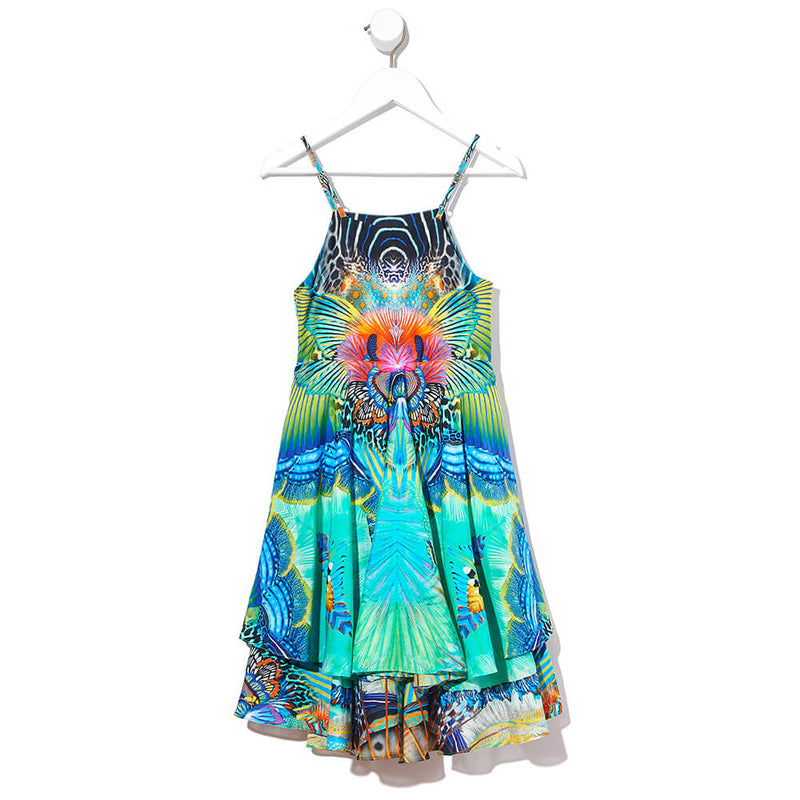 Camilla Reef Warrior Tiered Dress | Tiny People