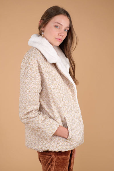 Louise Misha Women's Chkala Coat Honey Sparkle - Tiny People Cool Kids Clothes Byron Bay