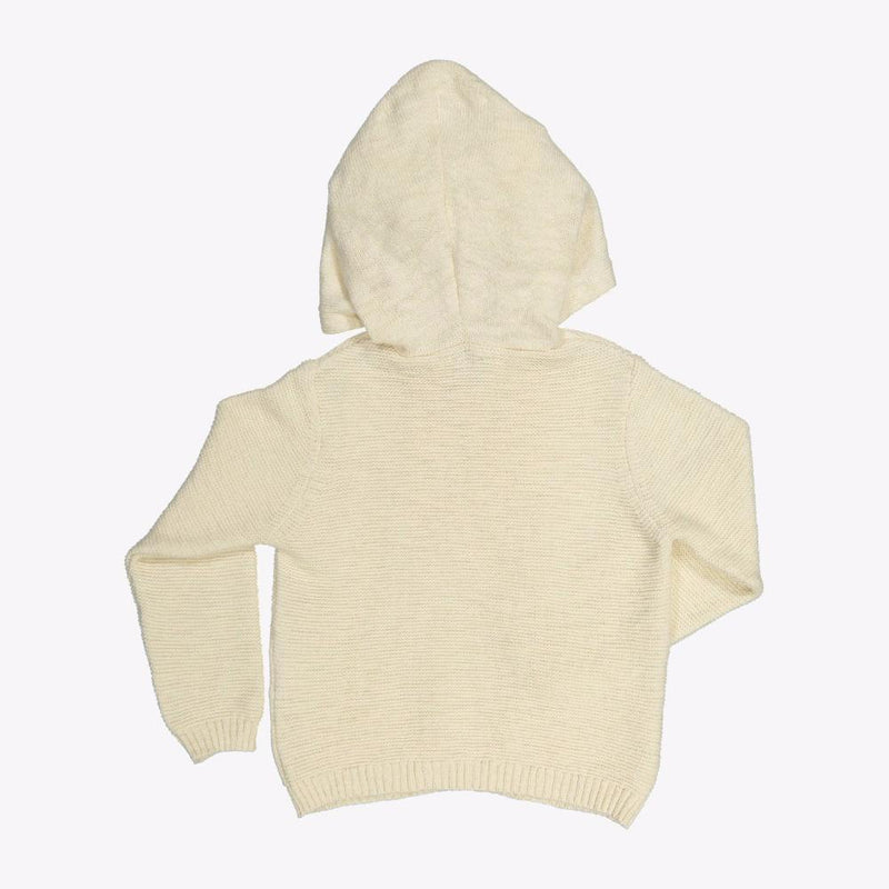 Knot Knitted Sweater Angora White Crews & Hoodies - Tiny People Cool Kids Clothes