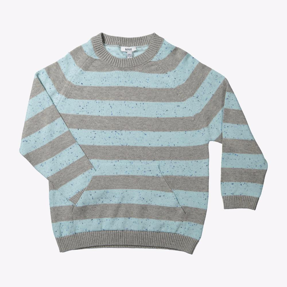Canguru Pocket Knitted Sweater Neppy Stripes