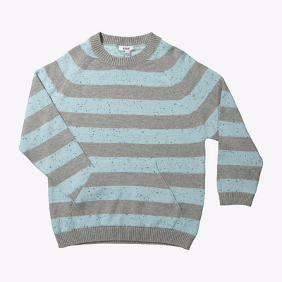 Knot Canguru Pocket Knitted Sweater Neppy Stripes Crews & Hoodies - Tiny People Cool Kids Clothes