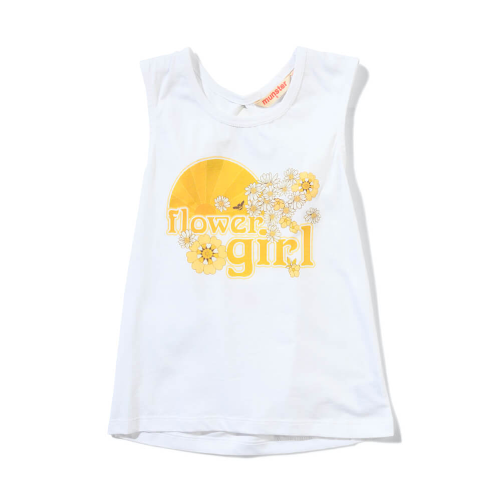 Missie Munster Clover Tank White | Tiny People