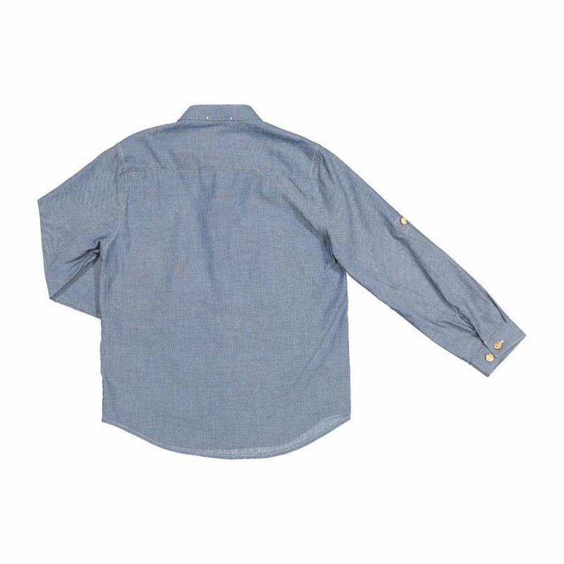 Knot Chambray Shirt Mid Denim Boys Shirts - Tiny People Cool Kids Clothes