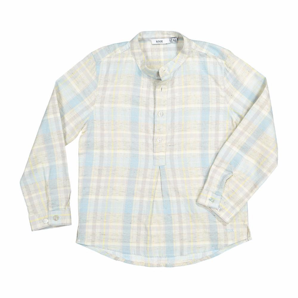 Knot Boho Tunic Savana Checks Boys Shirts - Tiny People Cool Kids Clothes