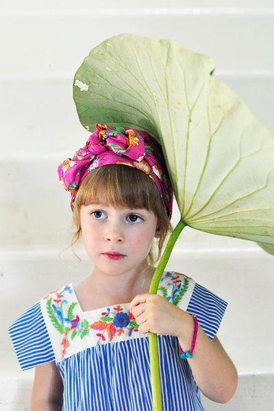 Coco & Ginger Allegra Dress Azura Stripe with Hand Stitch - Tiny People Cool Kids Clothes Byron Bay