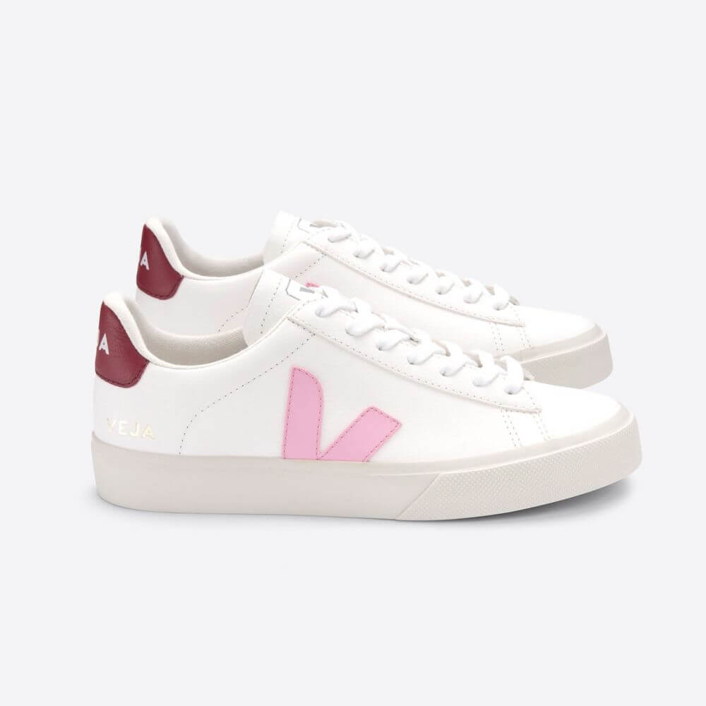 Veja Esplar Leather Campo Sneaker in Extra White Guimauve Marsala (Womens) | Tiny People