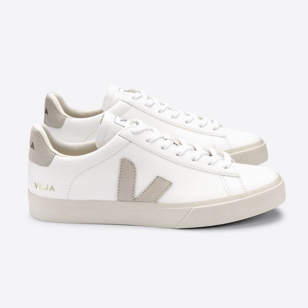 Veja Campo Chromefree Leather Extra White Natural Suede (Womens) | Tiny People