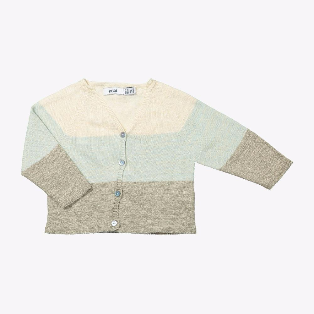 Knot Knitted Cardigan Mixed Stripes Cardigan - Tiny People Cool Kids Clothes
