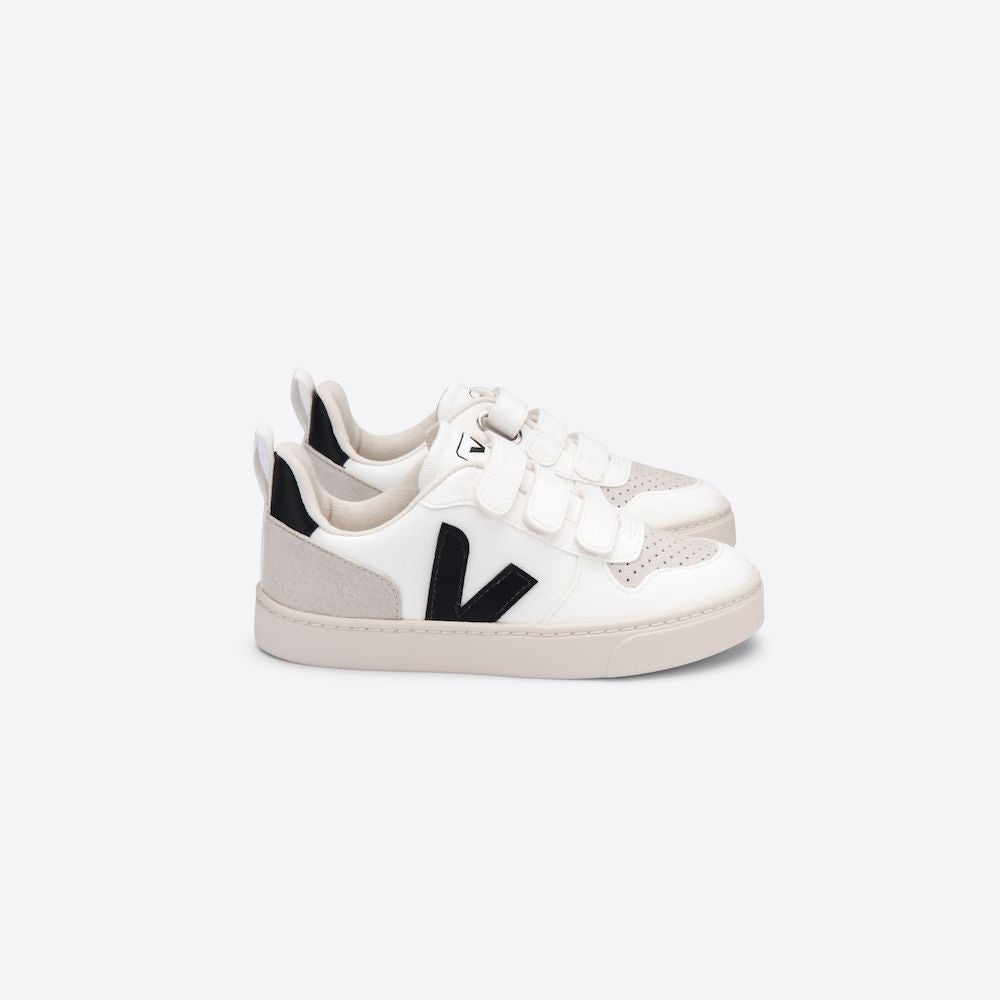 Veja V-10 Sneaker White/Black | Tiny People