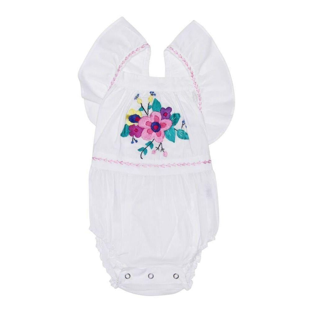 Coco & Ginger Camille Sunsuit Eggshell Baby Onesies & Rompers - Tiny People Cool Kids Clothes