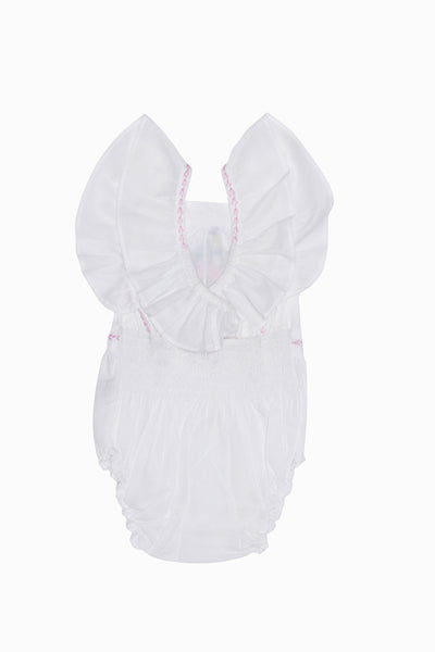 Coco & Ginger Camille Sunsuit Eggshell - Tiny People Cool Kids Clothes Byron Bay