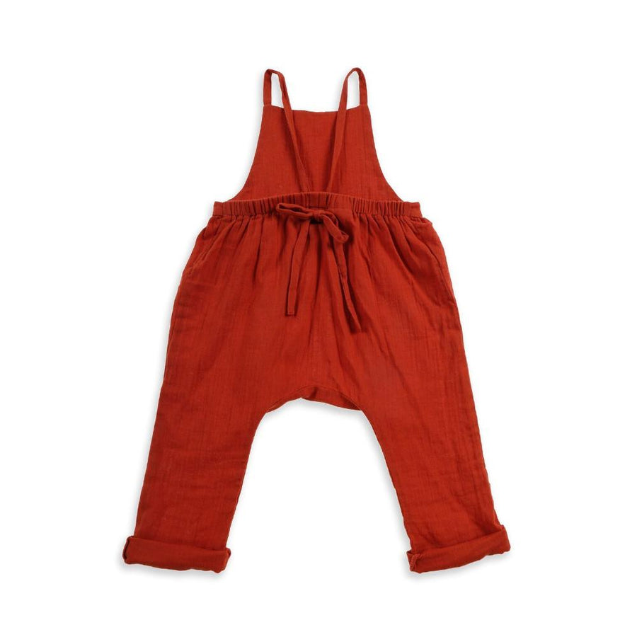 Tiny People Winnie Woven Cotton Overalls - Clay - Tiny People Cool Kids Clothes Byron Bay