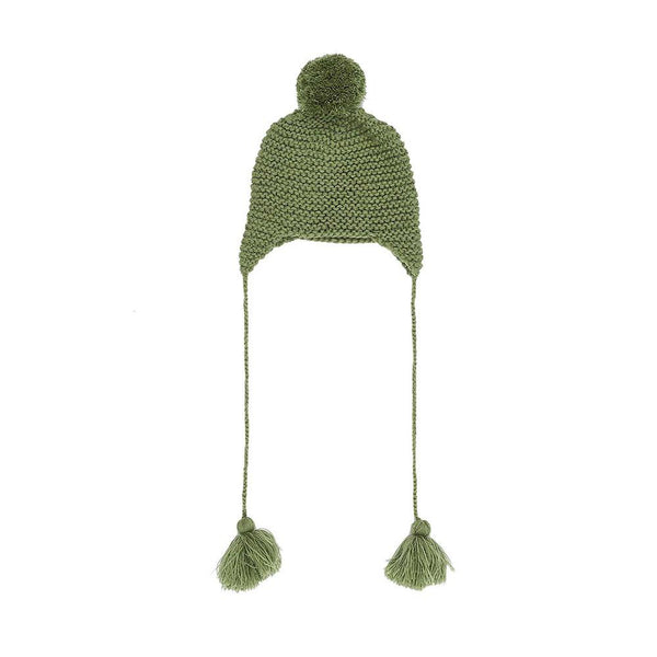 Bella & Lace Beanie Moss Green - Tiny People Cool Kids Clothes Byron Bay