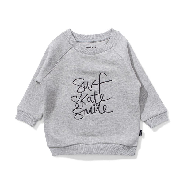 Mini Munster All Smiles Fleece Crew - Tiny People Cool Kids Clothes Byron Bay