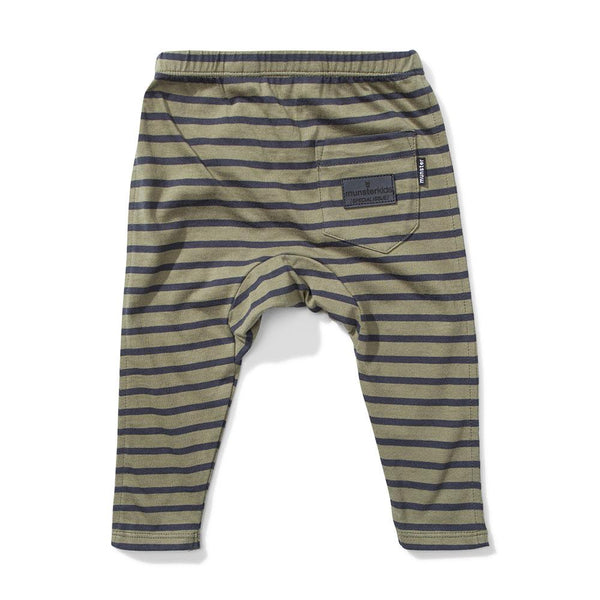 Mini Munster Wires Legging Olive Black Stripe - Tiny People Cool Kids Clothes Byron Bay